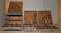 Antique pattern maker tool chest woodworkers collectible early saw drill hammer