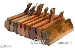 Antique wood wooden COMPLEX MOLDING PLANE TOOLS woodworking LOT phila others