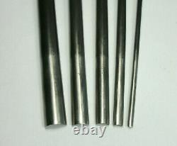D Lot of 5 Vtg I. SORBY SHEFFIELD WOODWORKERS GOUGES Lathe Turning Chisel Tools