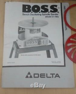 Delta Woodworking 31-780 BOSS Bench Oscillating Spindle Sander 1/4-HP