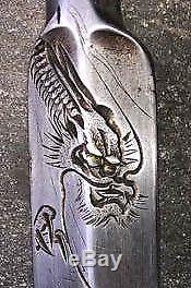 Dragon Japanese Vintage Woodworking Carpentry Tools Chisel Tsuki Nomi Rare R9