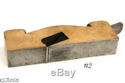 Ebony infill SHOULDER PLANE GUNMETAL 1 3/8th carpenter woodworking tool