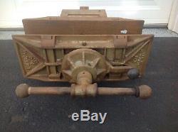 Emmert Antique / Vintage K1 Pattern makers Woodworkers Bench Vise 18x7 Jaws