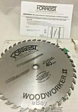 Forrest WW10407125 Woodworker II 10-Inch 40 Tooth ATB. 125 Kerf Saw Blade F3