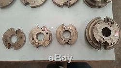 Garniga Shaper Tooling Entry Door Set 1 3/8 To 2 1/4 + Full Glass And Panel