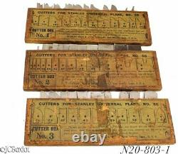 Good shape STANLEY TOOLS 55 combination plane 3 cutter boxes 1 2 3 woodworking