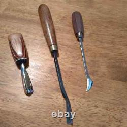 HELVIE WOOD CARVING TOOL With 2 OTHER FINE CARVING TOOLS