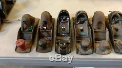 Huge Lot Of 28 Vintage Antique Woodworking Block Plane Tools
