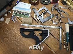 Huge Starrett Combination Square Head Tool Machinist Woodwork 8H Nice