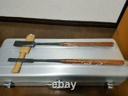 Ishigori 2 Pcs Set Tsuki Japanese Vintage Woodworking Carpentry Tool Chisel Nomi