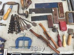 JOBLOT VINTAGE OLD WOODWORKING TOOLS 170+ ITEMS PLANES/CHISELS/HAMMERS Etc