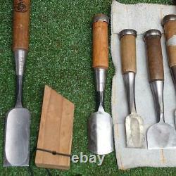 Japanese Carpenter Tool Chisel NomiInscription Luxury Set Woodworking Japan