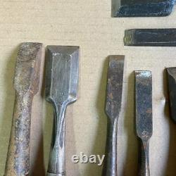 Japanese Chisel Nomi Carpenter Tool 10 pieces Set Woodworking Diy
