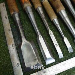 Japanese Chisel Nomi Carpenter Tool 28 pieces Set Woodworking Diy