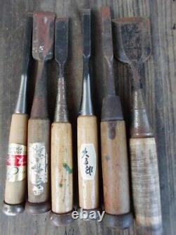 Japanese Chisel Nomi Carpenter Tool Inscription Set of 12 Woodworking Hand Tool