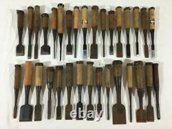 Japanese Chisel Nomi Carpenter Tool Set of 32 Woodworking Hand Tool