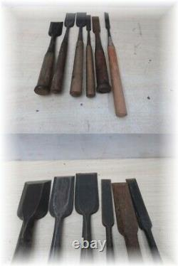Japanese Chisel Nomi Inscription Carpenter Tool 60-piece Set Woodworking Diy