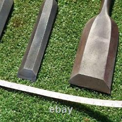 Japanese Chisel Tsuki Nomi Carpenter Tool 4 pcs set Yoshimitsu Oyama Woodworking