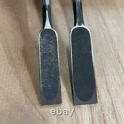 Japanese Vintage Chisel Oire Nomi Carpenter Tool 2 pcs set 15 18 mm Woodworking