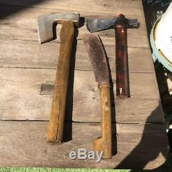 Japanese Vintage Woodworking Carpentry Tool Plane Axe Hatchet 3 Pcs Set Used