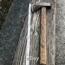 Japanese Vintage Woodworking Carpentry Tool Wood-Chopping Axe 45 cm Ono Used