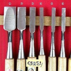 Japanese chisel oiire-nomi vintage woodworking tool Chisel 11 pcs 1 set CS151