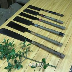 Japanese vintage woodworking carpentry tool 6saws nokogiri single double edge 0A