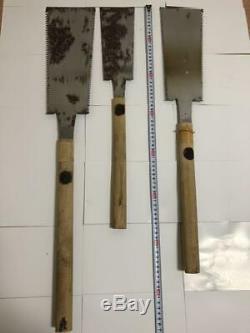Japanese vintage woodworking carpentry tools saw nokogiri Set of 3 gokujou used