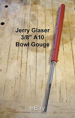 Jerry Glaser 3/8 CPM V10 Bowl Gouge Wood Lathe Chisel Woodturning Tools
