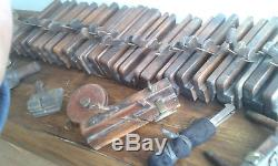 Joblot of old wooden moulding planes woodworking planes antique carpenters tools
