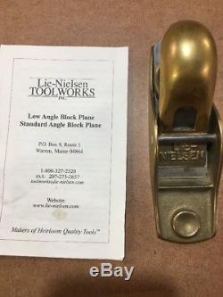 LIE-NIELSEN No. 102 Low Angle Bronze Block Hand Plane Woodworking Tool