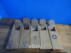 LOT of 10 Japanese WOOD PLANES KANNA SET (woodworking tool) USED JAPAN F6592