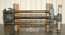 Large 10 Jaw Vintage WILTON Woodworking Vise Under Bench Mount