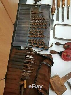Large Joblot Of 100+ Old Vintage Woodworking Tools Planes Chisels Augers