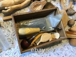 Large Starter Wood Carving Set With Tools & Sharping Stones