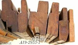 Large lot wood wooden WOODWORKING MOLDING PLANE TOOLS beads H&R's NY makers