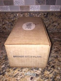 Lie Nielsen Bronze Skew Plane Block Plane Woodworking Quality