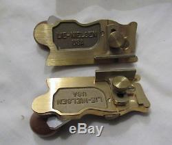 Lie Nielsen Pair Side Rebate planes No 98 & No 99 plane woodworking tool