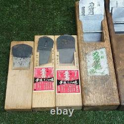 Lot of 6 Kanna Hand Plane Japanese Carpentry Woodworking Tool E-62