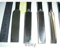 Lot of 8 Japanese Vintage Chisel Nomi Carpentry Tool wood working Japan