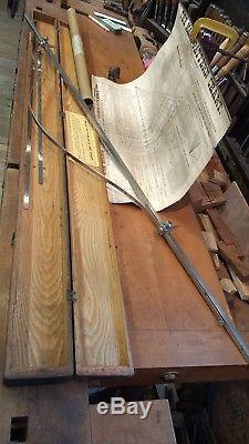 Lufkin Rule Co. Magic Pattern rule & chart, 1890 patternmakers, woodworking tool