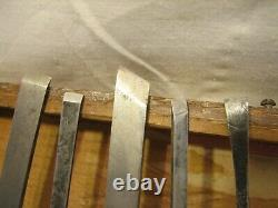 Millers Falls Set #3 12 Fine Wood Chip Carving Chisels Woodworking Tools withBox