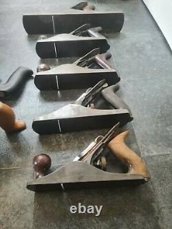 Mixed Joblot Of Vintage Stanley & Record Woodworking Planes Parts