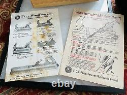 Never used E. C. Emmerich Primus 704 48mm Woodworking Plane with Box & paperwork