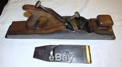 Norris London 17 1/2 Inch panel plane A1 antique woodworking tool plane infill