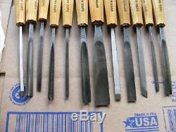 PFEIL Swiss Made Wood Working Carving Tools Set Of 12 Arrow Logo Pre-Owned