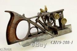 Patent patented PHILLIPS 1867 PLOW PLANE carpenter woodworking tool metallic