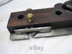 Pretty Antique Howland & Co Rosewood & Boxwood Plow Plane Woodworking Tool