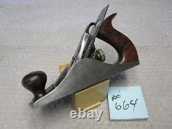 RARE Antique Vintage TYPE 3 Stanley No 4 (1872-73) Pre-Lateral Woodworking Plane