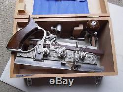 RECORD No 405 MULTI PLANE WOODWORKING Original Wooden Box 24 Cutters Little Used